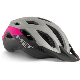MET Crossover Casco, gray/pink